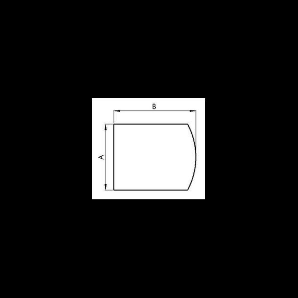 Gulvplade Flad Bue A800xB1000mm